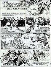 TARZAN BURNE HOGARTH 1950 ORIGINAL SUNDAY COMIC PROOF PAGE PRODUCTION ART LARGE