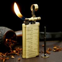 Brass Vintage Pipe Lighter Kerosine Collectible Cigarette Lighters Torch Arc