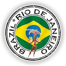 Seal Sticker of Brazil Rio De Janeiro Carnival Stamp Bumper Roundel Laptop Car