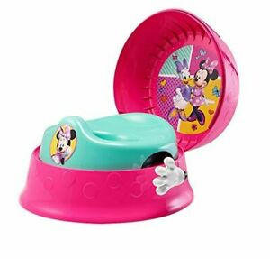 Minnie Mouse 3-in-1 Potty System Easy Clean Compact with Fun Sounds