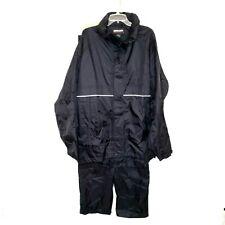 Kirkland Signature Rain Gear Black Reflective Pants/Jacket  Size XXL