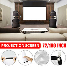 72/120 Inch 16:9 Projector Projection Screen Portble Home Theater Movie Cinema