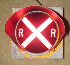 "8"" RAILROAD CROSSING Traffic Signal Light Red Lens cap visor (AA)"
