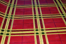 Tomato Red and Yellow Plaid Wallpaper Roll [W1026]