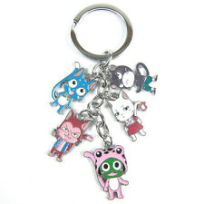 Fairy tail happy cat keychain keyring 5 pendants Cute
