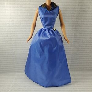 EVENING C ~ DRESS ~ BARBIE FASHION DOLL SIZE BLUE GOWN ACCESSORY CLOTHING