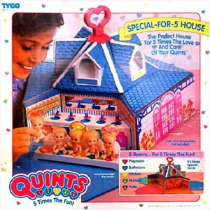 Vintage - Tyco - Quints Special For 5 House Dollhouse - 1989 - Nip