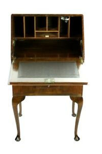 Antique Queen Anne Style Mahogany Bureau Writing Desk - FREE Shipping-PL-4846 R