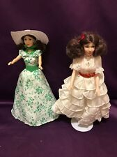 Two Vintage Starlet O'hara Gone With The Wind Dolls