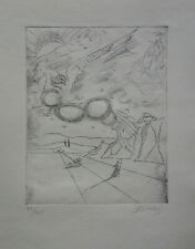 Limited edition etching, Surrealism Pegasus, signed Salvador Dali with DOCS