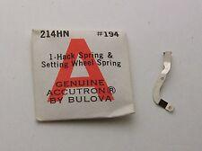 New Old Stock Bulova Accutron 214 Hack Spring & Setting Wheel Spring 214HN #194
