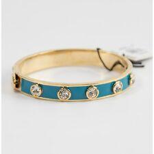 Juicy Couture Turquoise Enamel Crystal Black Label Bangle Bracelet YJRU7065 NWT