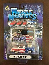 Vintage 2003 Muscle Machines #03-45 / '56 Olds 88 Stars & Stripes - NIP