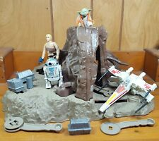 Vintage Star Wars Dagobah Playset With Yoda Luke Bespin R2D2 X-wing and extras