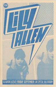 LILY ALLEN Concert Poster Portland 2007 - ORIGINAL Rare Promotional Only