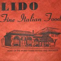 Vintage Lido Restaurant Italian Food Ravioli Spaghetti Menu Belmont Portland OR
