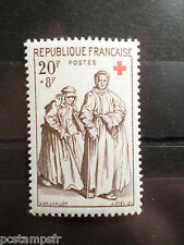 FRANCE 1957, timbre 1141, CROIX ROUGE, J CALLOT, neuf**, VF MNH STAMP, CELEBRITY
