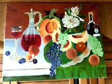 Original- One of a Kind- Oil on Canvas-Still Life- Signed-COA-Listed Artist