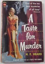 A TASTE FOR MURDER H F HEARD AVON PB 808 1958 FIRST PAPERBACK ED