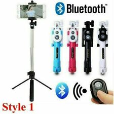 Extendable Selfie Stick Remote Bluetooth Tripod Camera Shutter For Mobile Phone