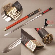 Folded Steel Sharp Blade Han Dynasty Jian Chinese Sword Redwood Saya Handmade