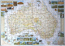 *NEW* Childrens Kids Educational Tray Puzzle - Australian Map 140 pce