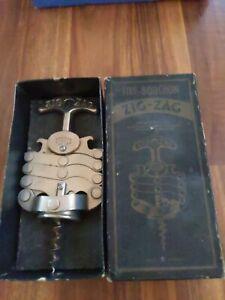 Vintage Zig Zag French Corkscrew & Bottle Opener