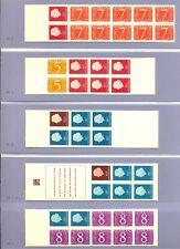 NEDERLAND POSTZEGELBOEKJE 10 x # PB 1/3 , 3a . 4 ,5 ,6 a t/m d --KW € 274-**