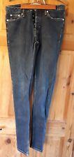 Top Man Stretch Blue Jeans Attillati Taglia 30