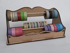 Washi Tape / Mini Ribbon Storage and Dispenser - MDF DIY Craft Tidy