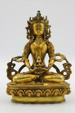 Buddha Bronze Figur Amitayus 20cm Tibetischer Buddhismus Statue AsienLifeStyle