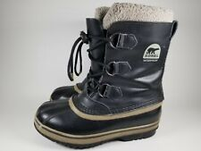 Sorel Boots Youth Size 4 Black Winter Carnival Waterproof EUC