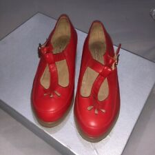 Topshop Red Matte Buckle Shoes- Size 4