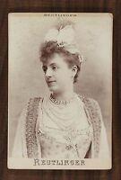 Jeanne Ludwig, Actrice Théâtre Comédie-Française, Photo Cabinet card, Reutlinger