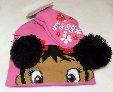 1ea13fa3b3630 New Toddler Girls Kai-Lan Knit Hat and Mittens Set Let s Go Go Go Pink