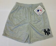 New Majestic New York Yankees Gray Silver Mesh Shorts NWT size XL