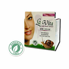 LA VITA EYE CREAM with 15% SNAILS Extract ANTI WRINKLES and REGENERATING