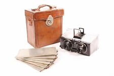 Stereo camera by Gaumont with Saphir Boyer f/6.3-80mm with case and 6 holders