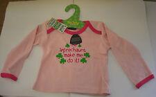 IRELAND IRISH BABY WEAR JUMPER PINK AGE 6-12 mths THE LEPRECHAUNS MADE ME DO IT