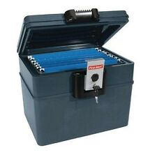 Fireproof Document Box Waterproof File Cabinet Locking Security Chest Key Lock