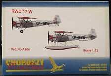 Choroszy Models 1/72 RWD 17 W Polish WWII Trainer and Floatplane