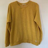 MARINE LAYER Men's Yellow Canary Fleece Pullover Crewneck Sweatshirt Size XL
