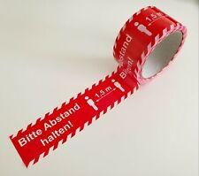 """(0,12€/1m) PVC-Klebeband Warnband Bodenmarkierungsband """"Bitte Abstand halten 1,5"""