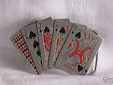 Poker BOUCLE DE CEINTURE cartes pewter