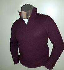 GAP Men's Sweater sz Medium ~Maroon Lambswool/Nylon Blend