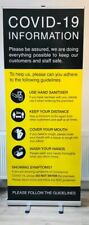 C0VID VIRUS INFORMATION AWERENESS PULL UP BANNER WITH CARRY CASE
