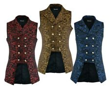 Men's Double Breasted GOVERNOR Vest Waistcoat VTG Brocade Gothic Steampunk/USA
