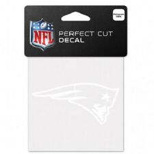 """New England Patriots 4""""x 4"""" White Logo Truck Car Auto Window Die Cut Decal Color"""
