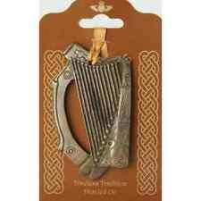 "Bronze Irish Harp Hanging Bronze Decoration 4"" (TSF22) - Island Turf Crafts"