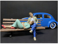 Sitting Lovers 2 Piece Figurine Set For 1/24 Scale Models By American Diorama